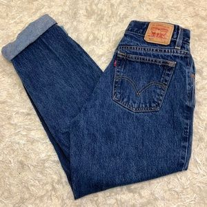 Vintage 550 Levi's High Waisted Tapered Ankle 12 S